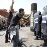 Supporters of the 15-M movement cleared by Police